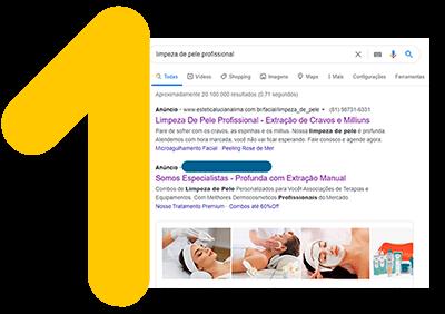 anúncio na primeira página do google